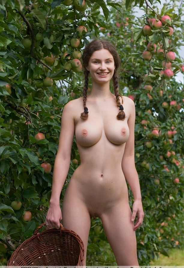 If You came to the village to her grandmother, then You should not smile at the camera, but harvest the the apples!