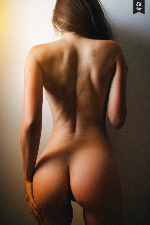 Naked body from behind