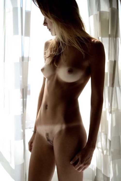 untanned breasts of skinny girl