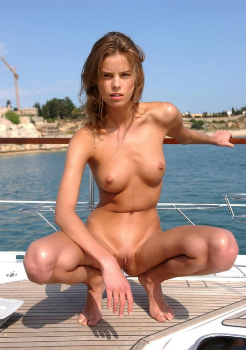Free nude posing on a yacht of sponsor