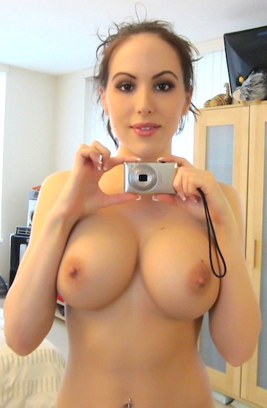 On such a small camera it's hard to take pictures of big tits